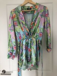 Jaded Patterned Floral Playsuit Size M