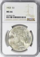 1923 Peace Silver Dollar - NGC MS-66 -  Mint State 66 - Certified Peace Dollar