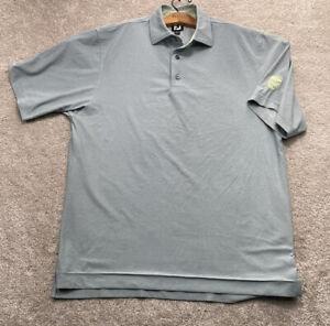 FOOTJOY men's golf shirt size MEDIUN light Green Short Sleeve Quarter Button G1b
