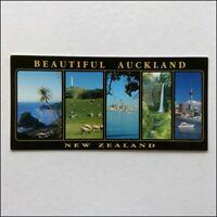 Beautiful Auckland New Zealand 5 Views Panorama Postcard (P401)