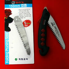 "Pocket Sized Folding Camping Pruning Saw 14"" Folding Saw Steel Blade Korea"