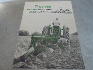 Vintage 1955 Oliver No.. 4240 Truss Frame Moldboard Plow Brochure