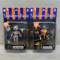 Showdown Bandit Lot Of 2 Action Figures Series 1 Grieves + Bandit NOC New
