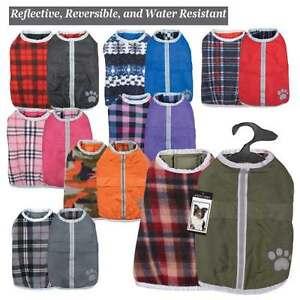 NOREASTER Blanket Dog Coat Reversible Waterproof Reflective WARM XL-XXLG WARM
