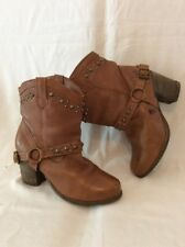 COOL WAY Brown Ankle Leather Boots Size 39