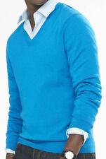NWT 【L】【$70】 New EXPRESS Men's Pure Merino Wool V-Neck Sweater, Lightweight