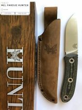 Benchmade 15400 Mel Pardue Hunter Fixed Satin Blade Hunting Knife Micarta Handle