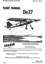 DORNIER DO-27 -  MANUAL IN ENGLISH GAF T.O. DO-27-1