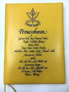 Programme of The Proclamation Ceremony of DYTM Tengku Mahkota Pahang 1977