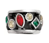 BRIGHTON Red/Green Crystal Kaleidescope Spacer Bead Christmas Charm Stunning NEW