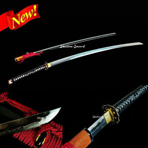 Nodachi Sword Japanese Samurai Sword Clay Tempered T10 High Carbon Steel Blade