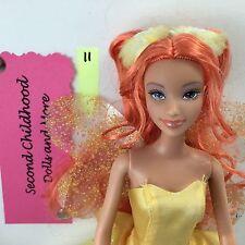 BARBIE LIQUIDATION FAIRY DOLL FAIRYTOPIA DANDELION ORANGE HAIR WINGS ADORABLE!