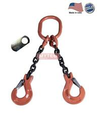 38 G100 Chain Sling 2 Leg Clevis Sling Hook Withlatch Dos Made In Usa