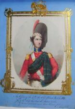 SMALL PORTRAIT OFFICER OF 42ND REGIMENT BLACK WATCH ELIZ HENNAKER (2)  C1819