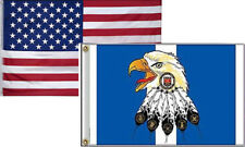 3x5 Wholesale Combo USA American & KIA Eagle Korea Veteran Flag 3'x5' 2 Pack