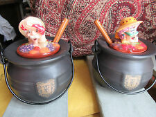 Very unusual Cauldron Cooking pot Preserve jars / pots