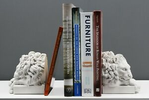 """Canova Lion Bookends in Pair - MADE IN EUROPE - 13CM / 5.1"""""""