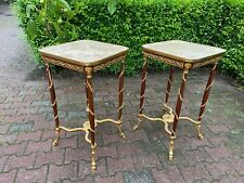 TWO SIDE TABLES IN FRENCH LOUIS XVI STYLE. WORLDWIDE FREE SHIPPING