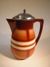 Art Deco Keramik Kakaokanne Kanne Spritzdekor Carstens Gräfenroda um 1925
