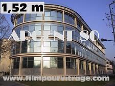 film solaire pour vitrage ARGENT 80 - miroir espion -  Largeur rouleau :1.52 m