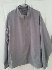 Duluth Trading Company Men's Half Zip UnLined Jacket Shirt Gray Size L/Tall