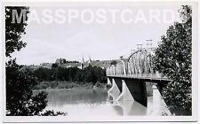 Canada Alberta Medicine Hat bridge South Saskatchewan River RPPC real photo