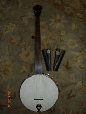 1870's-1880's Buckbee Flushfret Banjo. Period Rhythm Bones
