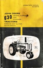 New listing John Deere 630 Gasoline and All-Fuel Tractor Operator's Manual