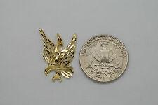 10K gold diamond cut eagle pendant