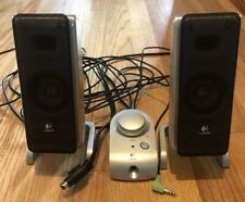 Logitech Z-3 2.1 Speaker System Front Speakers W/ Remote ONLY NO SUB Tested