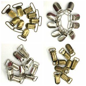 10PCS Paci Pacifier Suspender Clips Holder Webbing Hook Ribbon 10/15/20/25/30mm