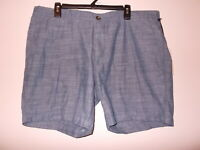 Goodfellow And Co. Men's Blue Chambray Slim Fit Linden Shorts Size 34 38 40 42