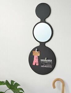 IKEA Mirror Sorhassel Memo Board with Mirror and Magnets Black 11¾ x 28¾ decor