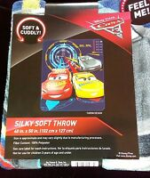 Disney Pixar Cars 3 (Silky Soft Throw)blanket #H84