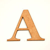 "WOODEN MDF LETTERS GEORGIA Scrapbook CRAFT DIY laser cut 3.5"" 90mm Numbers Shape"