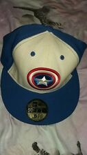 New Era Fitted Cap Captain America shield Marvel Avengers Taille 6 7/8