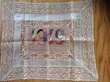 WWI postcard panel hankerchief 1919 souvenir of France - true vintage