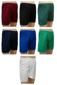 TRAX Mens Football Shorts Shadow Stripe Polyester Tie Cord Elasticated Waist