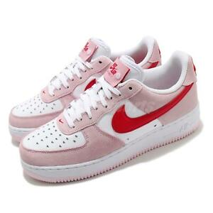 Nike Air Force 1 07 QS Valentines Day Love Letter Pink White Red Men DD3384-600