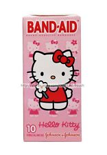 HELLO KITTY By SANRIO 10pc Sterile Adhesive BAND-AID Bandages FIRST AID Boxed