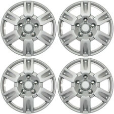 "4 pc Set Hub Cap ABS Silver 15"" Inch Rim Wheel Skin Cover Hupcaps Caps Covers"