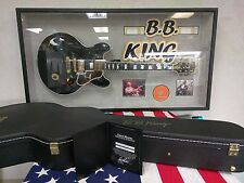 B.B. King Autographed Gibson Lucille Signed in Gold Guitar + Display+Case+Extras