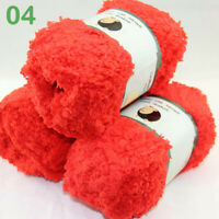 Lot of 3 x50gr Skeins Coral velvet Plush 100% MicroFiber baby Yarn Red 04