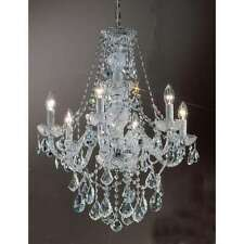 Classic Lighting Monticello Crystal All Glass Chandelier, Chrome - 8256CHC