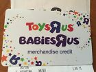 Toys R US Babies R US Merchandise Credit/Gift Card $260.94
