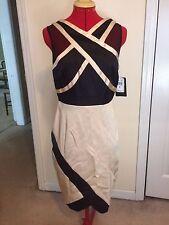 Jax Crisscross Sheath Dress - Gold/Black - Size 10 - NWT