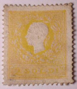 Lombardy Venetia RARE 1859 2s Type II p15 Mint+Gum.(€4000 with gum).Re-gum.Thin