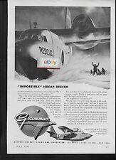 GRUMMAN AIRCRAFT SA-16 ALBATROSS TRIPHIBIAN ICECAP RESCUE IN GREENLAND 1953 AD