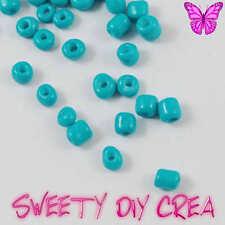 Lot de 30g Perles de Rocaille Rondes en Verre Opaque Turquoise 2mm (12/0)