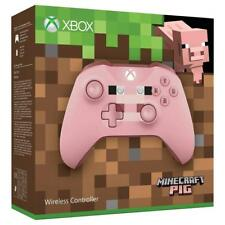Microsoft Xbox One Wireless Controller Minecraft Pig Pink PC Windows 10 komp NEU